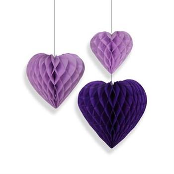 Фигура бум Сердце сиренев 15-20-25см 3шт - фото 12895