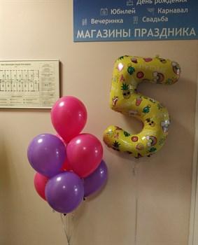 Фонтан на 5 лет с желтой цифрой - фото 44869