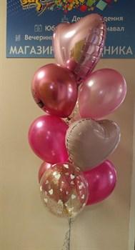 Фонтан в розовых тонах на ДР - фото 44871