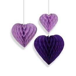 Фигура бум Сердце сиренев 15-20-25см 3шт