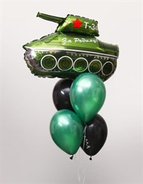 Фонтан небольшой с танком на 23 февраля