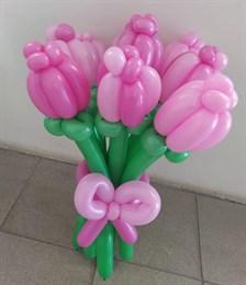 Букет изумительных тюльпанов в розовых тонах (9 штук)